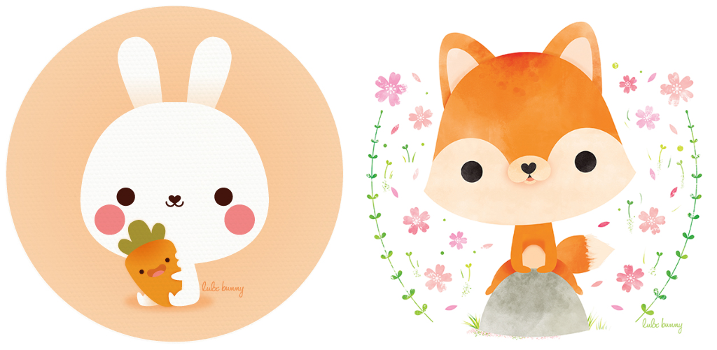 Luli Bunny illustrations