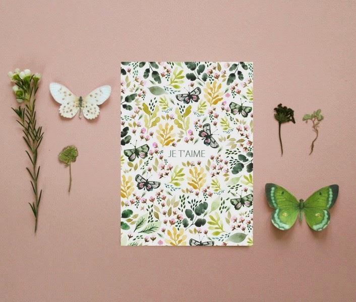 je t'aime carte Sonia Cavallini