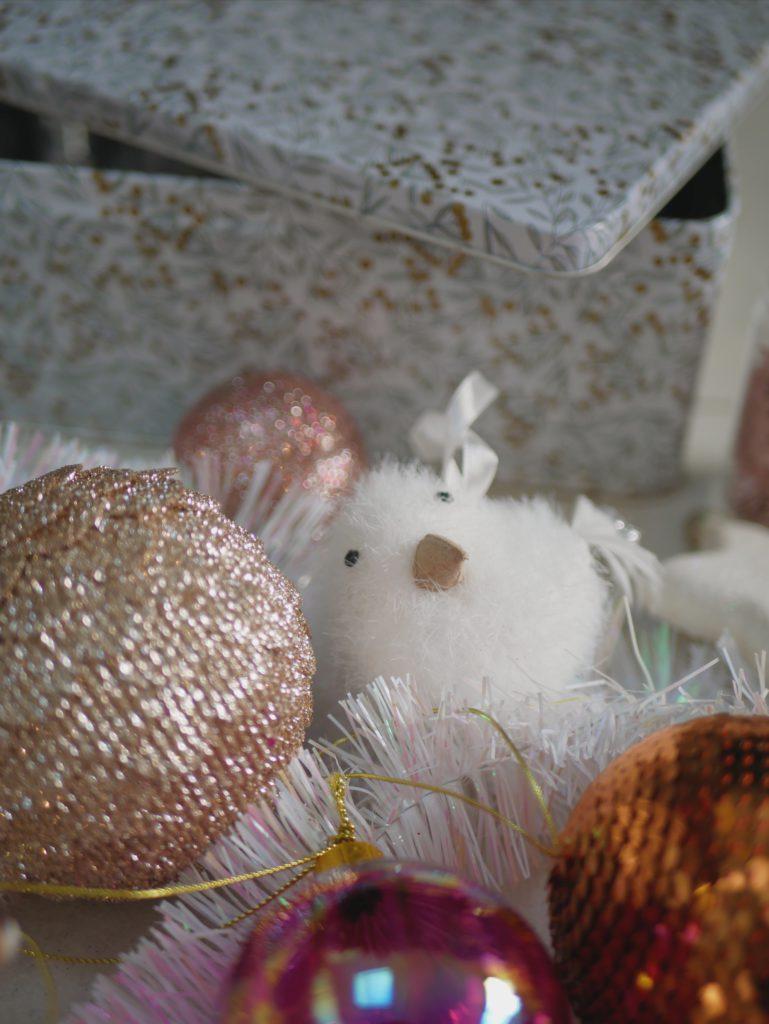 décoration sapin monoprix